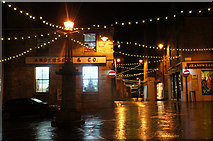 HU4741 : Christmas lights at the Cross, Commercial Street, Lerwick by Mike Pennington