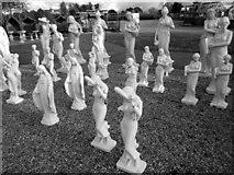 SJ7243 : Garden Statues at Bridgemere by Jeff Buck