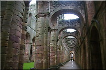 SE2768 : Side aisle in Fountains Abbey by Bill Boaden