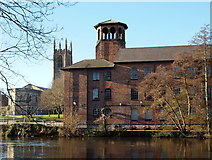 SK3536 : Derby - Lombes Mill & Cathedral by David Hallam-Jones