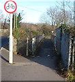 SS8282 : Marlas Road footbridge, Pyle by Jaggery