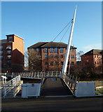 SK3536 : Derby - Cathedral Green Footbridge by David Hallam-Jones