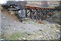 NN2578 : Ruined Bridge on the Lochaber Narrow Gauge Railway by Doug Lee