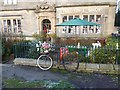 NY8355 : Floral bike at Allendale by Oliver Dixon