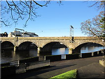 NS3421 : Railway Bridge over the River Ayr by Billy McCrorie