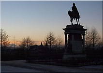 NS5766 : Earl Roberts statue at dusk by Alec MacKinnon