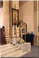 TQ2873 : St Mary & St John, Balham - Lectern by John Salmon