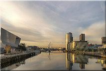 SJ8097 : Salford Quays, Manchester Ship Canal by David Dixon