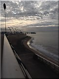 SD3036 : New sea wall and sea defences, and Central Pier, Blackpool by hayley green
