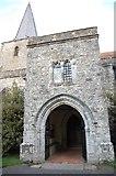 TQ9245 : South Porch, St Nicholas' church, Pluckley by Julian P Guffogg
