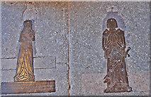 TQ9245 : Brass to John & Julyan Dering, Pluckley church by Julian P Guffogg