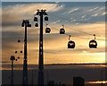 TQ4080 : Emirates Air Line at sunset by Oast House Archive