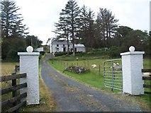G7797 : Farm house above the N56 near Maas by Eric Jones