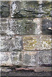 NY0336 : Benchmark on wall beside railway near Curzon Street bridge by Roger Templeman