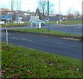 ST2994 : No pedestrians sign, Cwmbran by Jaggery