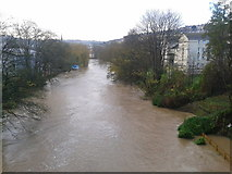 ST7565 : The River Avon at Cleveland Bridge by Virginia Knight