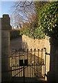 SX8570 : Churchyard gate, Wolborough by Derek Harper