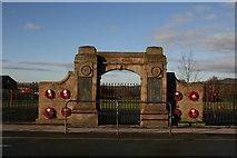 SJ9957 : War memorial at Ball Haye Green by Graham Hogg