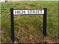TL2662 : High Street sign by Adrian Cable