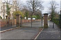 SJ3688 : A gated entrance to Princes Park by Ian Greig