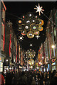 TQ2981 : Christmas Lights, Carnaby Street by Oast House Archive