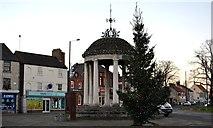 SK5993 : Tickhill's market cross in early December by Neil Theasby