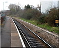 ST1871 : Railway mile post, Dingle Road railway station, Penarth by Jaggery