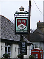 TL2454 : Duncombe Arms sign by Adrian Cable