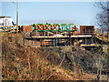SD7506 : The Meccano Bridge, Nob End by David Dixon