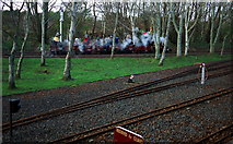 J5476 : Tracks and a train, Drumawhey Junction by Rossographer