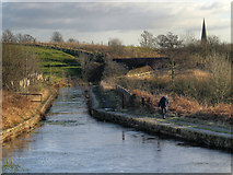 SD7506 : Prestolee Aqueduct, Manchester, Bolton and Bury Canal by David Dixon