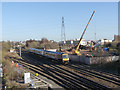 SK5538 : Progress at Lenton railway bridge  by Alan Murray-Rust