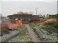 SD7506 : Manchester, Bolton and Bury Canal - Meccano Bridge at Nob End by David Dixon