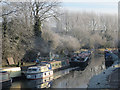 SP9213 : Residential barges moored at Tring Summit by Chris Reynolds