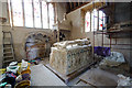 SY7594 : St Mary's church, Puddletown - the restoration of the Athelhampton Chantry (1) by Mike Searle