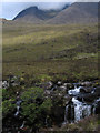 NG8758 : Mountain slopes rising towards Beinn Alligin by Trevor Littlewood