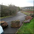 SO5709 : Boulders block access to Perrygrove Road, Coleford by Jaggery