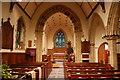 TQ6540 : Interior, St Luke's church, Matfield by Julian P Guffogg