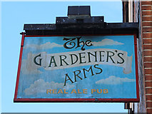TQ4210 : The Gardener's Arms sign by Oast House Archive
