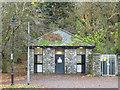 NY2622 : Public toilets in lakeside car park, Keswick by Graham Robson