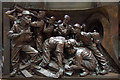 TQ3082 : Frieze on statue, The Meeting Place, St Pancras Station, London N1 by Christine Matthews