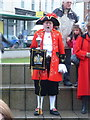 SZ0891 : Bournemouth: town crier in The Triangle by Chris Downer