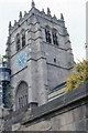 SE1633 : Bradford Cathedral: west tower by Christopher Hilton