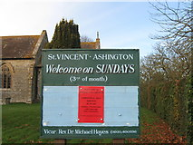 ST5621 : Sign, St Vincent, Ashington by Alex McGregor