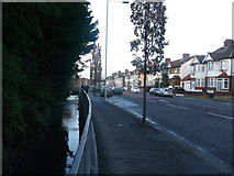 TQ4585 : Loxford Water beside South Park Drive by David Anstiss