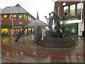 SD2069 : The spirit of Barrow sculpture, Dalton Road, Barrow in Furness by Graham Robson