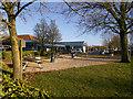 SP3457 : M40 Warwick Services (Picnic Area) by David Dixon