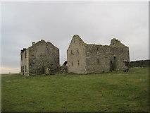 NY9569 : Ruined Farmhouse and Buildings near West Wall Farm by Les Hull