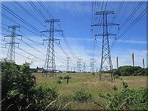 NZ3089 : Power supply to Lynemouth smelter by Richard Webb