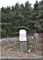 SK2694 : Milestone at Handsome Cross, Penistone Road by Neil Theasby